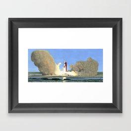 Leaving Earth Framed Art Print