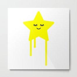 Sleepy star Metal Print
