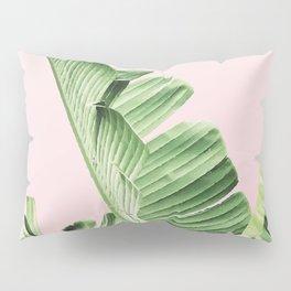Banana Leaf on pink Pillow Sham