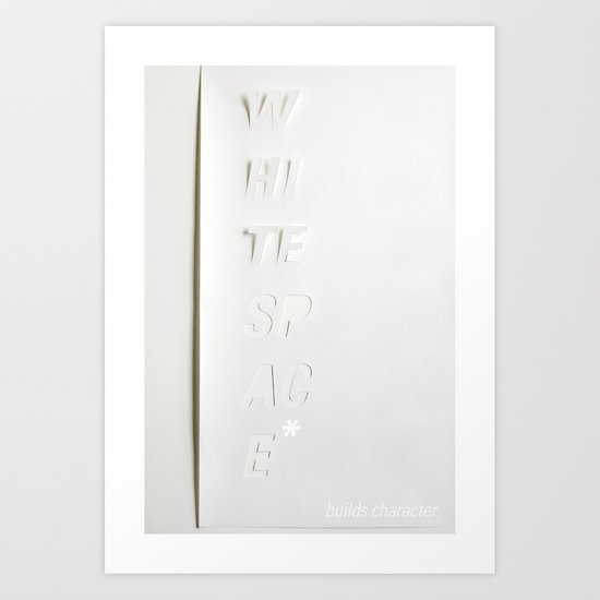 White Space Art Print