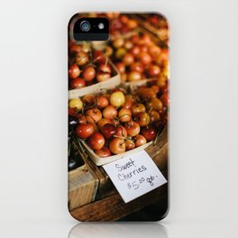 Cherries at Hurd Orchard iPhone Case