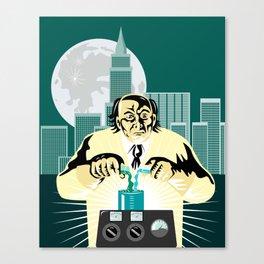 Mad Scientist City Background Canvas Print