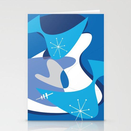 Blue Bam Boom Stationery Cards