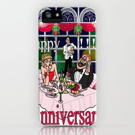 A night out with the mobile phone iPhone Case
