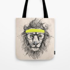 Hipster lion (light version) Tote Bag