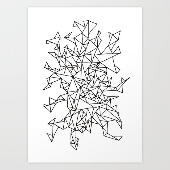 Triangle Mess Art Print