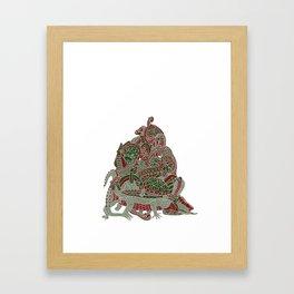 Reptile Pile Framed Art Print