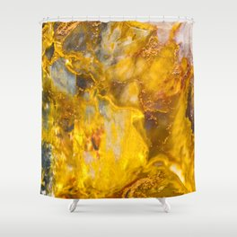 Fire Crystal - gemstones, photography #society6 Shower Curtain