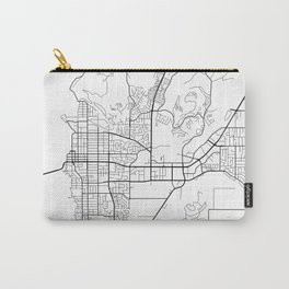 Kelowna Map, Canada - Black and White  Carry-All Pouch