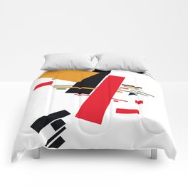 Geometric Abstract Malevic #13 Comforters