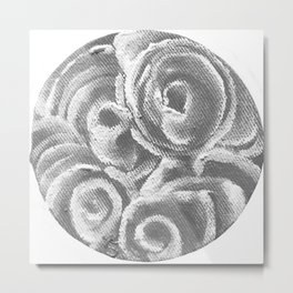 Peach Plum Dreams in the Dark Metal Print
