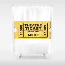 Theatre Ticket Shower Curtain