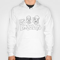 los angeles Hoodies featuring Los Angeles by elle stone