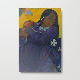 Paul Gauguin - Woman with Mango Metal Print