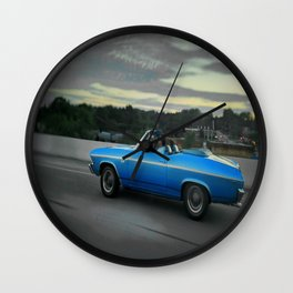 Blue '69 Chevelle Wall Clock