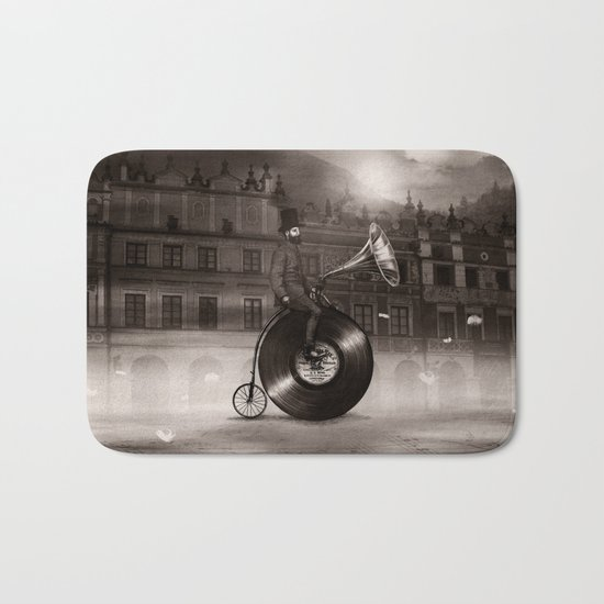 Music Man in the City, by Eric Fan and Viviana González Bath Mat
