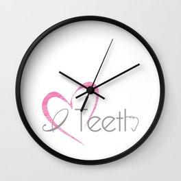 I (heart) Teeth Wall Clock