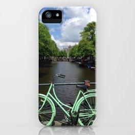 Amsterdam Green Bike - Greg Katz iPhone Case