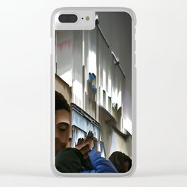 Train Face Clear iPhone Case