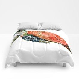 Sea Turtle, turtle art, turtle design Comforters