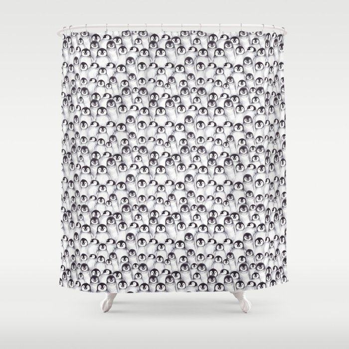 Penguin pattern Shower Curtain