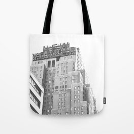 New Yorker Sign - NYC Black and White Tote Bag