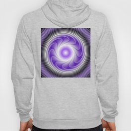 The Power Of Purple, Modern Fractal Art Graphic Hoody