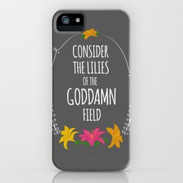 Consider the Lilies iPhone Case
