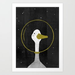 Space Goose Art Print
