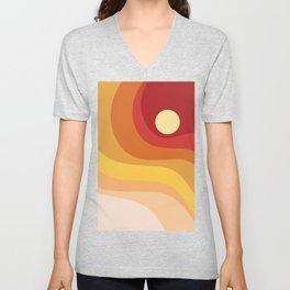 Geometric Shapes // Sunshine Unisex V-Neck