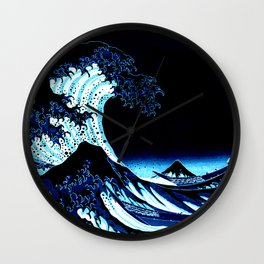 the Great Wave blue Wall Clock
