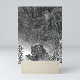 Rocks in the falls Mini Art Print