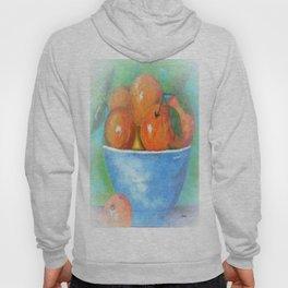 Peaches in a Blue Bowl Vignette Hoody