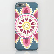 Suzani inspired floral blue 2 Slim Case iPhone 6s