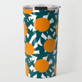 Art Deco Minimalist Orange Grove Travel Mug