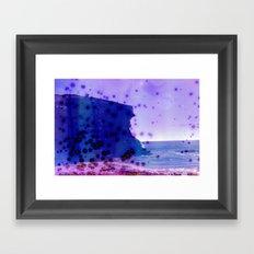 rock in the ocean Framed Art Print