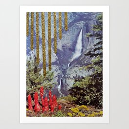golden falls Art Print