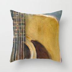 Martin Guitar D-28 Throw Pillow