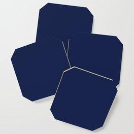 Navy Blue Minimalist Coaster
