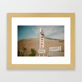 Robbies Motel, Ashcroft, BC Framed Art Print