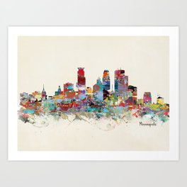 Minneapolis Minnesota skyline Art Print