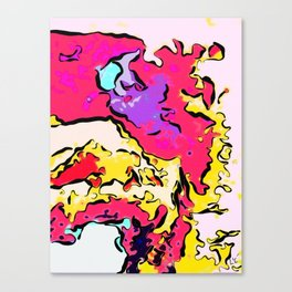 Neon Drizzle Puddle Canvas Print