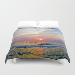 Naples Florida sunset on the Gulf of Mexico Duvet Cover