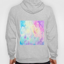 Watercolor Abstract Landscape Blue and Purple Hoody