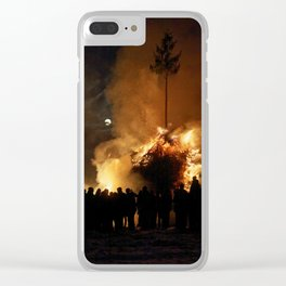 Easter full moon - the winter ist over (2) Clear iPhone Case