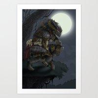predator Art Prints featuring Predator by Sean Sweeney