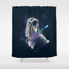 Spacebeat Shower Curtain