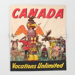 Vintage poster - Canada Throw Blanket
