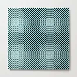 Limpet Shell and Black Polka Dots Metal Print
