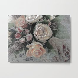 First Frost- Frozen Flowers  Metal Print